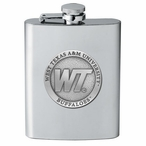 West Texas A&M Buffaloes Stainless Steel Flask with Pewter Accent