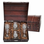 West Texas A&M University Buffaloes Pewter Accent Beer Chest Box Set