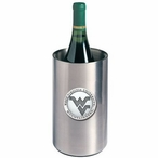 West Virginia Logo Pewter Accent Stainless Steel Wine Bottle Chiller