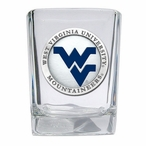 West Virginia Mountaineers Blue Logo Pewter Shot Glasses, Set of 4