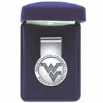 West Virginia Mountaineers Logo Pewter Accent Steel Money Clip