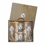 West Virginia University Mountaineers Logo Pewter Accent Beer Box Set