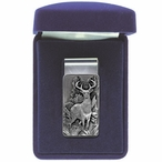 Whitetail Deer Steel Money Clip with Pewter Accent