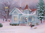 Winter Fortress with Snowman Artist Proof Limited Edition Art Print