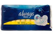 Always Maxi Pads w/wings 10ct, 12/bx