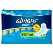 Always Maxi Long W/wings 8ct, 12/bx