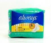Always Ultra Thin w/wings 18ct, 12/bx