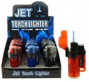 Clear Plastic Torch Lighter 12/bx