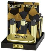 Clipper Metal Black & Gold Lighter