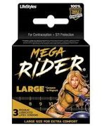 Mega Rider Condoms 3pk 12/box