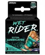 Wet Rider Condoms 3pk 12/box