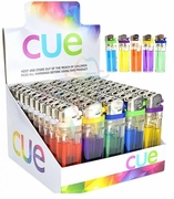 Cue Color Butane Lighters 50/tray