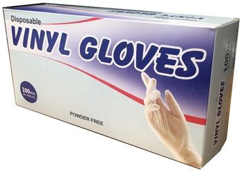 Disposable Vinyl Gloves 100/bx