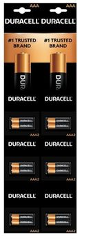 Duracell AAA/2pk6/Card (On Strip)