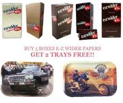 E-Z Wider Cigarette Paper 5 Box Deal w/trays