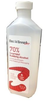 First Aid Research Alcoho 12oz / 6/bx