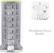 Iphone (newer Models) Lightning 8 Pin Earpods 40/ct Swivel Display