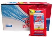 Lucky Antibacterial Wipes 40ct12/bx