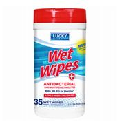 Lukcy Antibacterial Wipes 35ct12bx