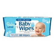 Baby Loves Baby Wipes 80ct 12/bx