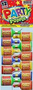 Champagne Party Poppers 12ct12/box