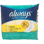 Always Ultra Thin w/wings 10ct, 12/bx