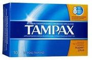 Tampax Super Plus Tampons 10/ct, 12bx