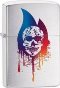 Zippo Colorful Skull Flame