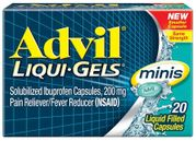 Advil Mini Lquid Gels 20ct6/bx