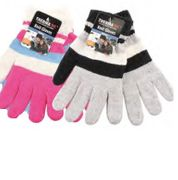 Women Stripe Gloves 12bx