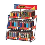 Bic 6 Tier Metal Rack w/300 Lighters