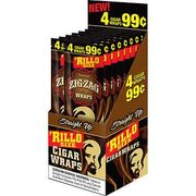 Zig Zag Cigarillo Wraps Straight Up 15/bx 4/99c