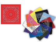 Square bandannas Assorted Colors 120/box