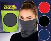 Neck Gaiter Face Mask 12/ct Solid Colors