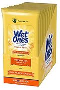 Wet Ones Antibacterial Wipes Tropical 20ct, 10/dspl