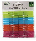 Plastic Clothes Pins / Pegs 36ct 12/bx