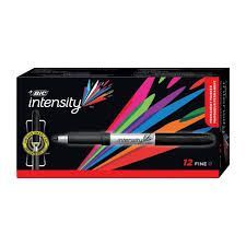 Bic Intensity MarkerFine Point Black 12/bx
