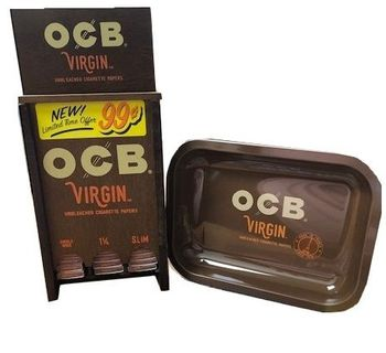 OCB Virgin Paper 72/ct Wooden Display $0.99c