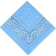Light Blue Square Bandanna