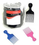 Small Afro Combs. Assorted Colors 54 ct