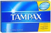 Tampax Regular Tampons 10/ct, 12/bx