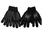 Women RhineStone Gloves 12/bx