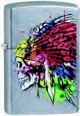 Zippo Color Indian Skull (Retail $23.45)