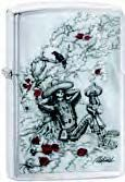 Zippo Day Dead CrowSkull (Retail $27.45)