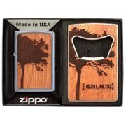 Zippo Mahogony Gift Set Lighter & Bottle Opener