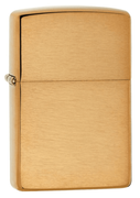 Zippo Brushed Brass w/o lettering (Retail $23.95)