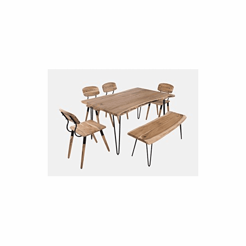 "Nature's Edge 60"" Dining Table with 4 Chairs and Bench"