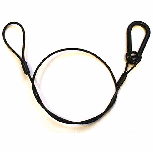"30"" Lighting Safety Cable w/ Springhook - Black"