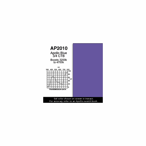 "Apollo 2010 - Blue 3/4 CTB - Ten 20"" x 24"" Sheets"