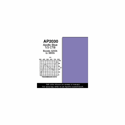 "Apollo 2030  - Blue 1/3 CTB - Ten 20"" x 24"" Sheets"